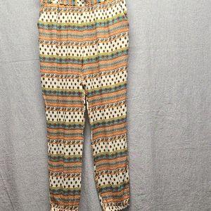 Nana USA Patterned Elastic Waistband/Ankle Pant XL